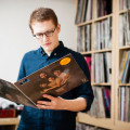 Sam Shepherd, also known as Floating Points,  a vinyl record collector from London, UK photographed with his vinyl collection at his home for Dust & Grooves. © Copyright - Eilon Paz - www.dustandgrooves.com